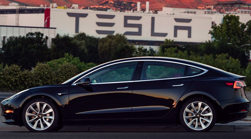 Here's the first real, production Tesla Model 3
