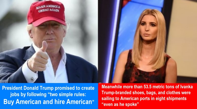 Ivanka Trump Imported 53 Metric Tons of Chinese Goods During Her Dad's 'Buy American' Speech