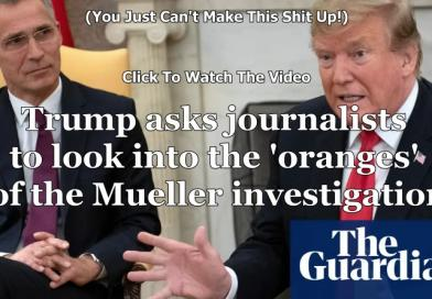 Trump asks journalists to look into the 'oranges' of the Mueller investigation – video